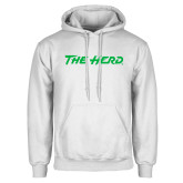 White Fleece Hoodie-The Herd