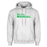 White Fleece Hood-We Are Marshall
