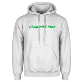 White Fleece Hoodie-Marshall Thundering Herd