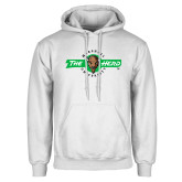 White Fleece Hoodie-Marshall University The Herd