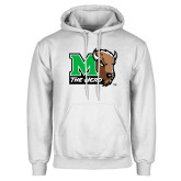 White Fleece Hoodie-M The Herd w Head