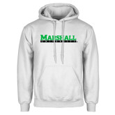 White Fleece Hoodie-Marshall University