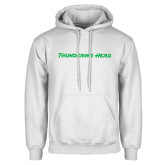 White Fleece Hoodie-Thundering Herd