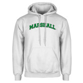 White Fleece Hoodie-Arched Marshall