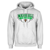 White Fleece Hoodie-Marshall The Herd Design
