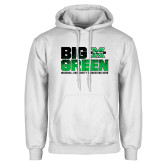 White Fleece Hoodie-Big Green