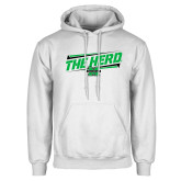 White Fleece Hoodie-The Herd Fancy Lines