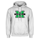 White Fleece Hoodie-Softball