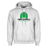White Fleece Hoodie-Baseball Hat Design