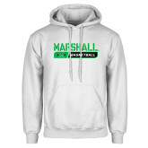 White Fleece Hoodie-Basketball Bar Design