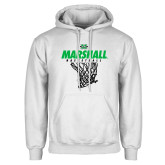 White Fleece Hoodie-Basketball Net Design