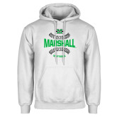 White Fleece Hoodie-Softball Ball Design