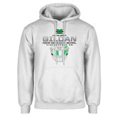 White Fleece Hoodie-New Mexico Bowl - Face Mask