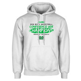 White Fleece Hoodie-2018 Mens Basketball Champions - Brush
