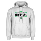 White Fleece Hoodie-2018 Mens Basketball Champions - Box