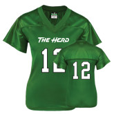 Ladies Kelly Green Replica Football Jersey-#12