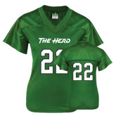 Ladies Kelly Green Replica Football Jersey-#22