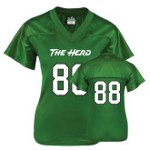 Ladies Kelly Green Replica Football Jersey-#88