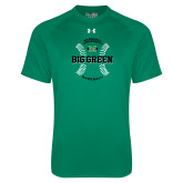 Under Armour Kelly Green Tech Tee-Baseball Ball Design