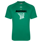 Under Armour Kelly Green Tech Tee-Basketball Net Design