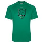Under Armour Kelly Green Tech Tee-Soccer Shield Design