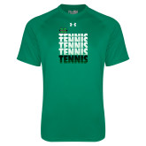 Under Armour Kelly Green Tech Tee-Tennis Stacked Design