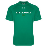 Under Armour Kelly Green Tech Tee-Volleyball Ball Design
