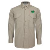 Khaki Long Sleeve Performance Fishing Shirt-M Marshall