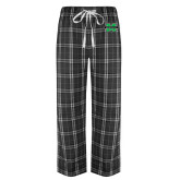 Black/Grey Flannel Pajama Pant-M Marshall