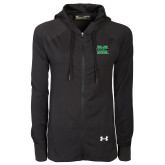 Ladies Under Armour Black Varsity Full Zip Hoodie-M Marshall