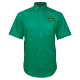 Kelly Green Twill Button Down Short Sleeve-M Marshall