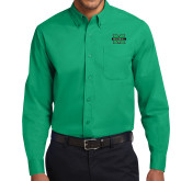 Kelly Green Twill Button Down Long Sleeve-M Marshall
