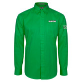Kelly Green Twill Button Down Long Sleeve-Gildan New Mexico Bowl