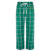 Green/White Flannel Pajama Pant-M Marshall