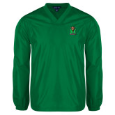 Kelly Green V Neck Windshirt-Official Logo