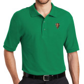 Kelly Green Easycare Pique Polo-Mascot Head