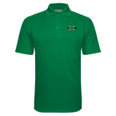 Kelly Green Textured Saddle Shoulder Polo-M Marshall