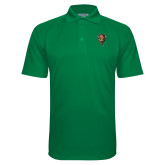 Kelly Green Textured Saddle Shoulder Polo-Mascot Head