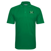 Kelly Green Textured Saddle Shoulder Polo-M The Herd