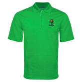 Kelly Green Mini Stripe Polo-Official Logo