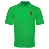 Kelly Green Mini Stripe Polo-Mascot Head