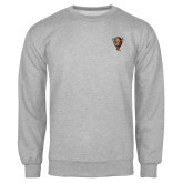Grey Fleece Crew-Mascot Head