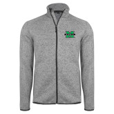 Grey Heather Fleece Jacket-M Marshall