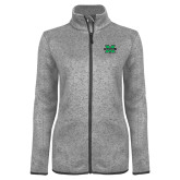 Grey Heather Ladies Fleece Jacket-M Marshall