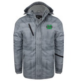 Grey Brushstroke Print Insulated Jacket-M Marshall