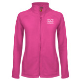 Ladies Fleece Full Zip Raspberry Jacket-M Marshall