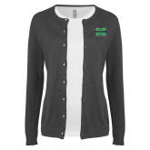 Ladies Charcoal Cardigan-M Marshall