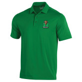 Under Armour Kelly Green Performance Polo-Official Logo