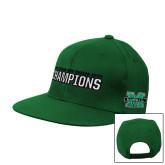 Kelly Green Flat Bill Snapback Hat-Gildan New Mexico Bowl