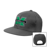 Charcoal Flat Bill Snapback Hat-M Marshall